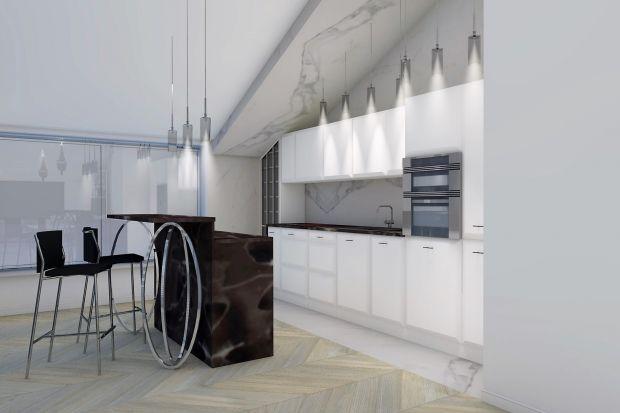 Elegancka kuchnia z marmurem