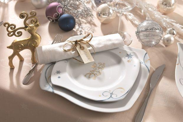 Najlepszej jakości porcelana, oryginalny, świąteczny dekor oraz ręcznie nanoszone zdobienia z 18-karatowego złota znakomicie wpisują się w bożenarodzeniowy klimat.