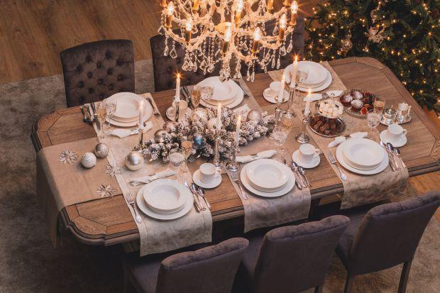 Złoto i srebro na świątecznym stole