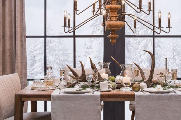 Stół na święta w stylu skandynawskim