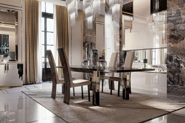 Finezja łączenia szkła w przestrzeni jadalni