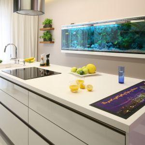 Modna biała kuchnia. Projekt Chantal Springer. Fot. Bartosz Jarosz.
