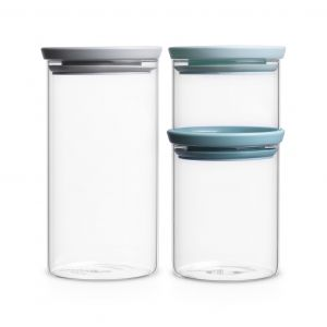 Brabantia_zestaw 3 szklanych pojemników