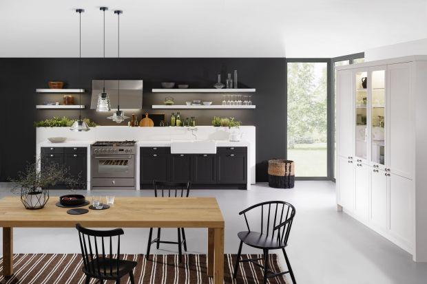 Klasyczna kuchnia w czerni. 5 pomysłów na zabudowę meblową