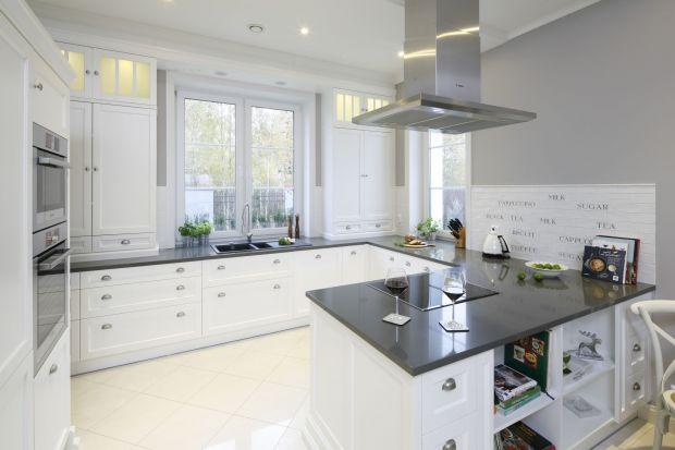 Biała kuchnia w klasycznym stylu. Dużo pięknych zdjęć
