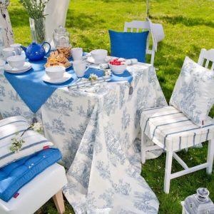Dekoria.pl_siedzisko na krzesło Kuba i obrus prostokątny z kolekcji tkanin Jupiter.