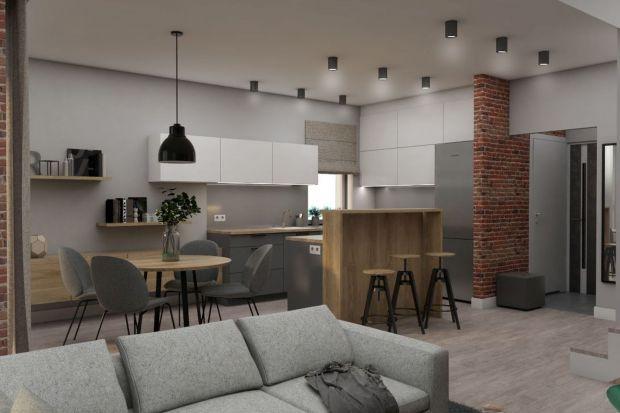 Kuchnia w domu w bliźniaczej zabudowie. Zobacz gotowy projekt