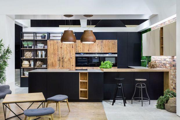 10 pomysłów na kuchnię w ciemnych kolorach