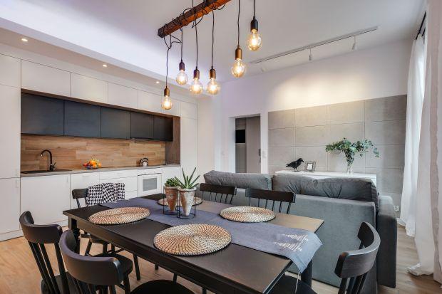 Kuchnia z jadalnią i salonem. Zobacz piękne wnętrze