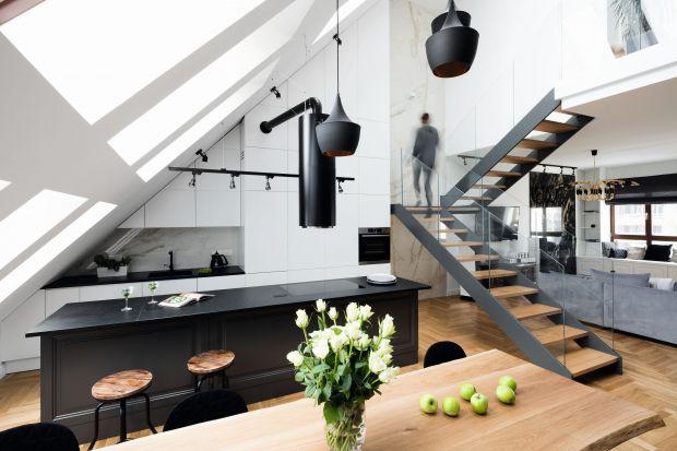 Elegancka kuchnia w apartamencie. Ten projekt zachwyca