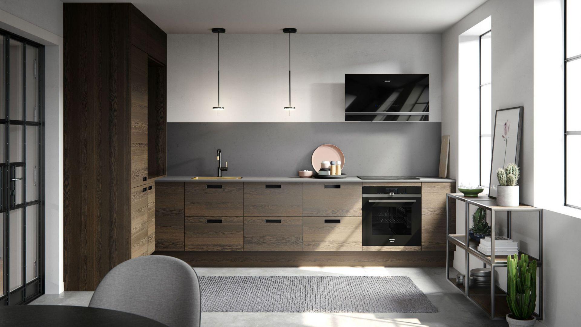 Drewno w nowoczesnej kuchni. Fot. Svane