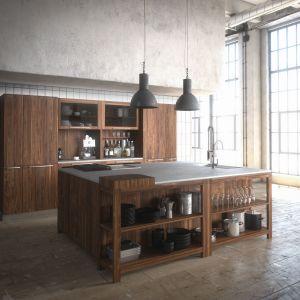 Drewno w nowoczesnej kuchni. Fot. Team7
