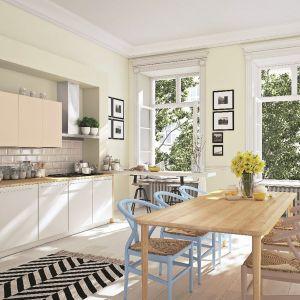 Beckers Designer Kitchen & Bathroom_Linen white, Beckers Designer Universal_kolory Caramel cookie, Aqua, Frappe