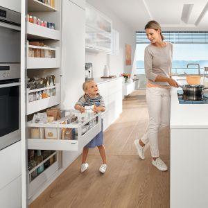 10 pomysłów na wyposażenie szafek w kuchni. Fot. Blum Space Tower
