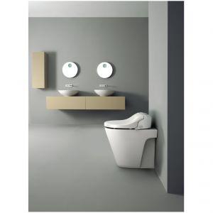 Elektroniczna deska myjąca Uspa 7235 wyposażona w dwie dysze, funkcję suszenia, podgrzewanie deski z możliwością regulacji temperatury. Fot. Uspa