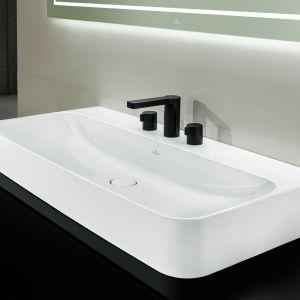 Umywalki Finion marki Villeroy & Boch to minimalistyczna elegancja kryjąca się za nieszablonowym projektem. Fot. Villeroy & Boch