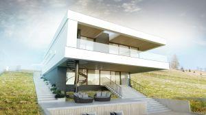 Projekt domu jednorodzinnego biura architektonicznego BIAMS z Łodzi.