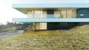 Niezwykłe ujęcie dwóch kondygnacji budynku. Dolna stanowi suterenę.