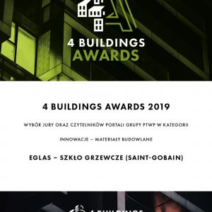 4Buildings Awards 2019 - dyplom. Fot. PTWP