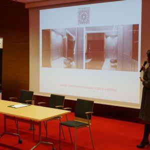Wystąpienie gościa specjalnego Kinga Śliwa, założycielka i główny projektant Studia Architektury Wnętrz Art&Design. Fot. SDR