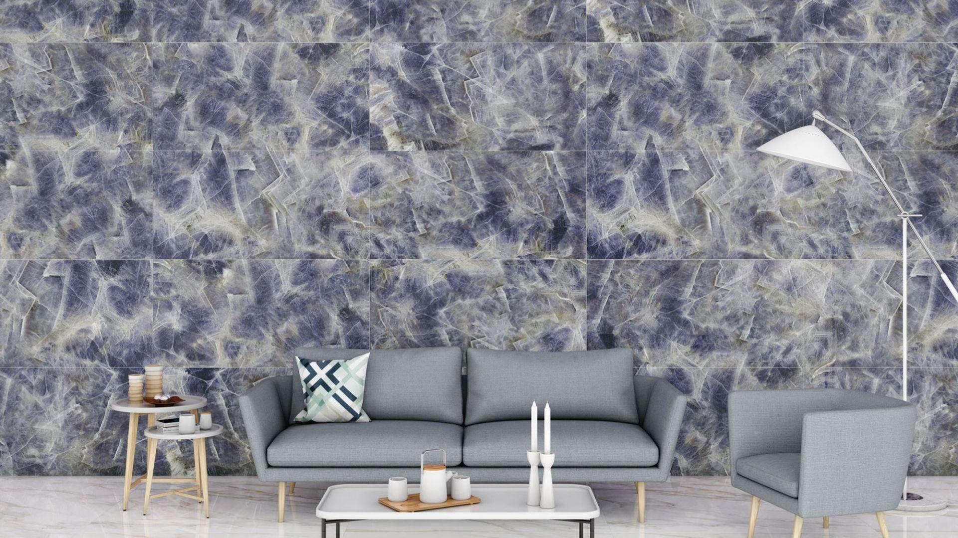 Kolekcja płytek ceramicznych Amethyst Purple 120x260. Fot. Greston