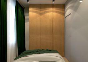 Sypialnia w mieszkaniu w Krakowie