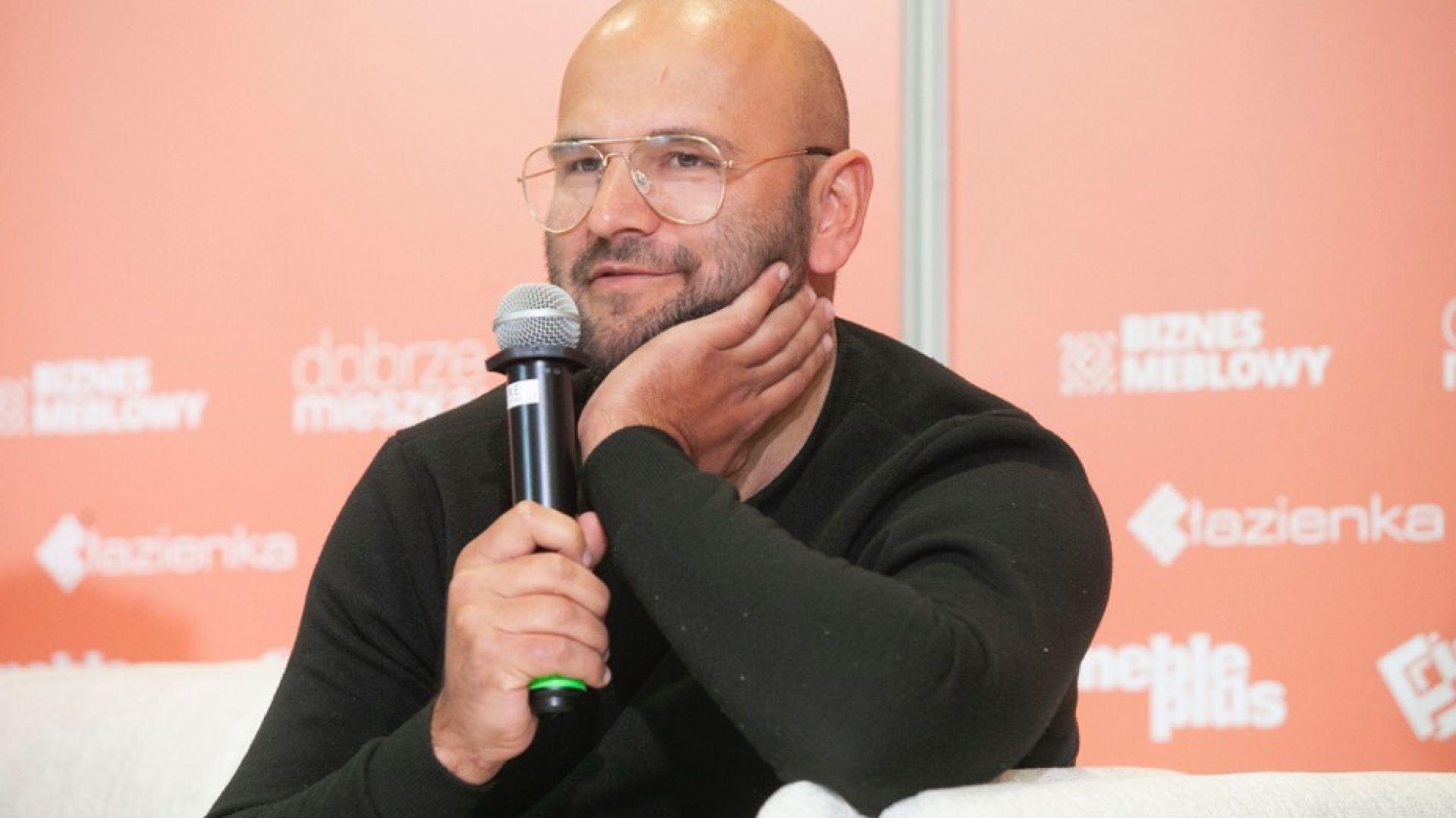 Jakub Majewski. Forum Dobrego Designu 2019. Fot. Paweł Pawłowski