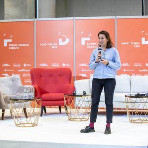 Agata Starmach. Forum Dobrego Designu 2019. Fot. Piotr Waniorek