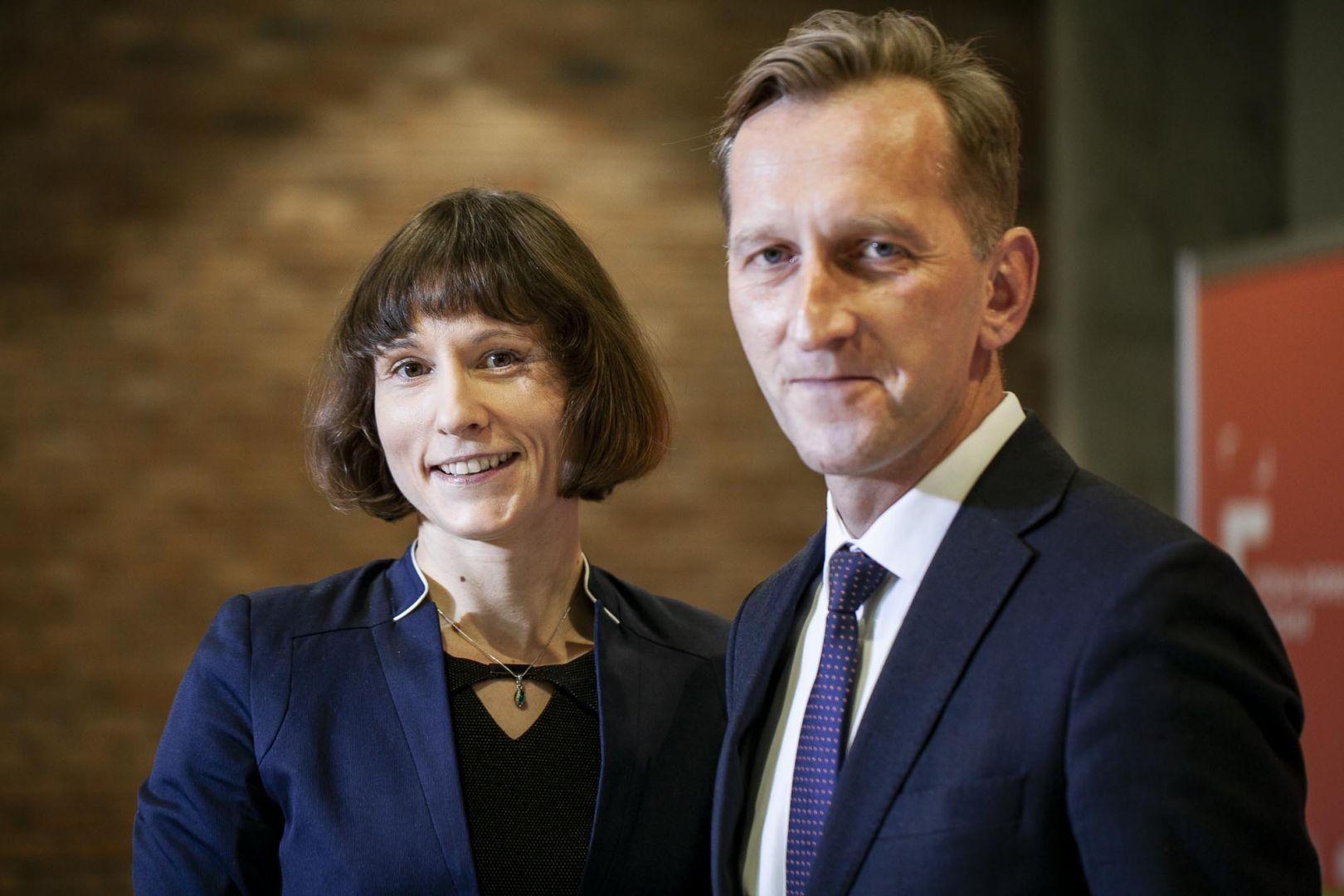 Anna Spalony i Marcin Pietrzyk. Forum Dobrego Designu 2019. Fot. Marek Misiurewicz