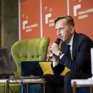 Marcin Pietrzyk. Forum Dobrego Designu 2019. Fot. Marek Misiurewicz