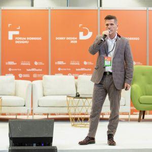 Sebastian Sklepik. Forum Dobrego Designu 2019. Fot. Piotr Waniorek