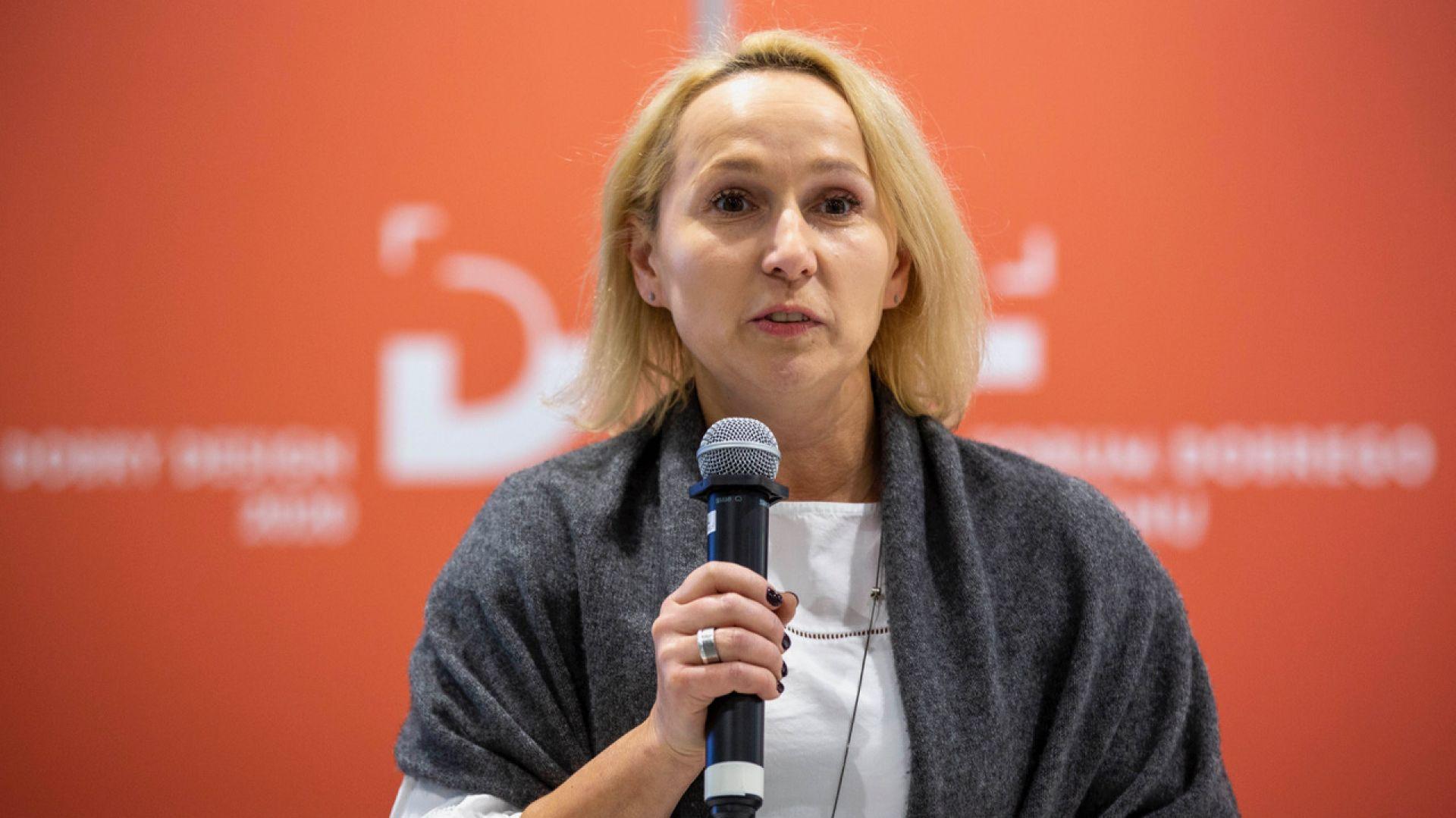 Joanna Dec-Galuk. Forum Dobrego Designu 2019. Fot. Piotr Waniorek