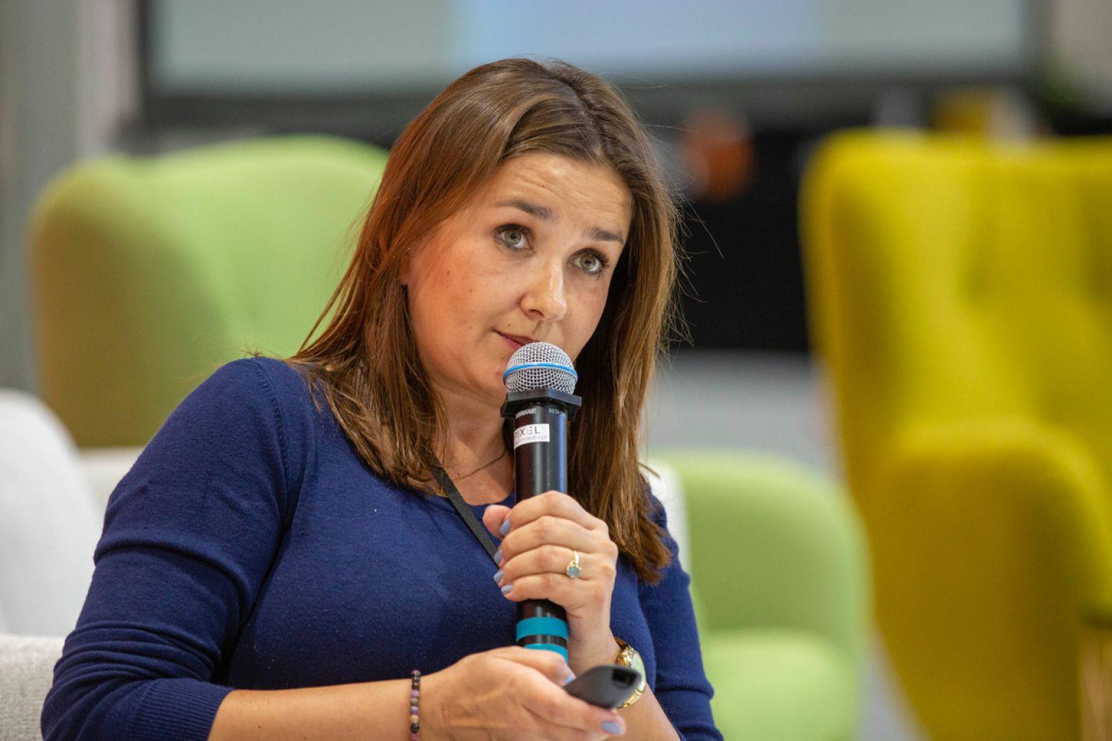 Anna Koszela-Krawczyk. Forum Dobrego Designu 2019. Fot. Piotr Waniorek