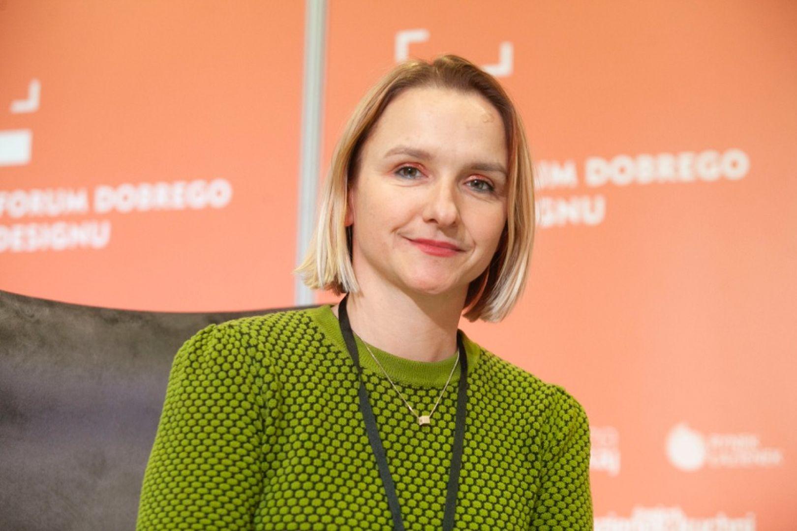 Alina Badora. Forum Dobrego Designu 2019. Fot. Paweł Pawłowski