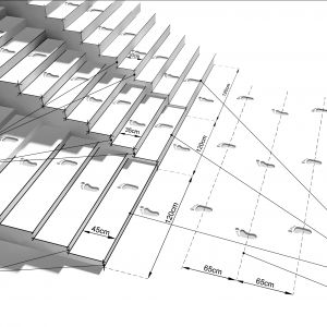1. Porównanie różnych proporcji schodów zewnętrznych, spełniających wymagania normowe i ergonomiczne. Rys. Buszrem