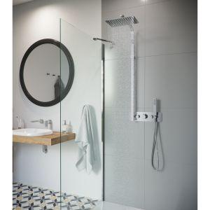 KROTOS: zestaw prysznicowy termostatyczny Rain 2. Fot. Excellent