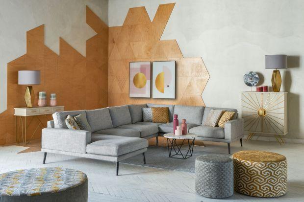 Nowoczesny salon: postaw na geometrię i pastele