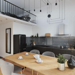 Kuchnia w apartamencie z antresolą.  Fot. Ferro