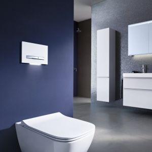 Moduł Geberit DuoFresh umożliwia montaż odciągu nieprzyjemnych zapachów w łazience, można go zamontować z każdą spłuczką podtynkową z rodziny Geberit Sigma. Fot. Geberit