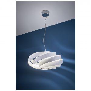 Lampa wisząca vento biała, Castorama 228 zł. Fot. Castorama