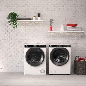 Pralka H-WASH 500 z funkcją Care Dose, która dozuje detergent dokładnie do stopnia zabrudzenia i wielkości prania. Do skompletowania z suszarką H-DRY 500. Dostępnae w ofercie firmy Hoover. Fot. Hoover