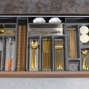 Organizacja w kuchni: 5 akcesoriów, które przydadzą się każdemu: wkłady z pojemnikami do ram. Fot. Rejs