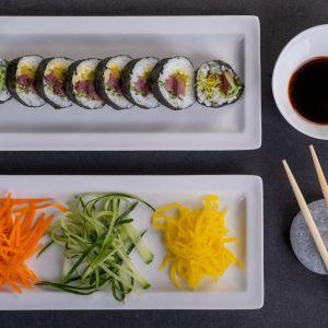 Sushi z wędzonym karpiem. Fot. Pan Karp Towarzystwo Promocji Ryb