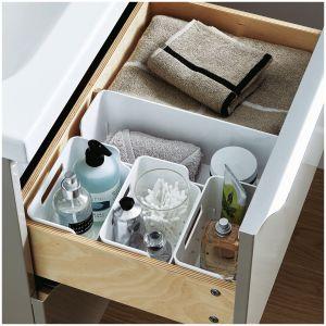 GOODHOME – w pełni wysuwane, przestronne szuflady mebli z kolekcji Imandra można wyposaż w praktyczne organizatory. Dostępne w sklepach Castorama. Fot. Castorama