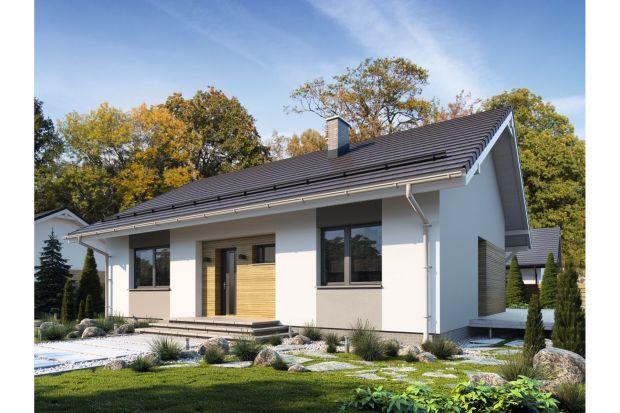 Projekt i wnętrze małego (90 mkw.) domu parterowego