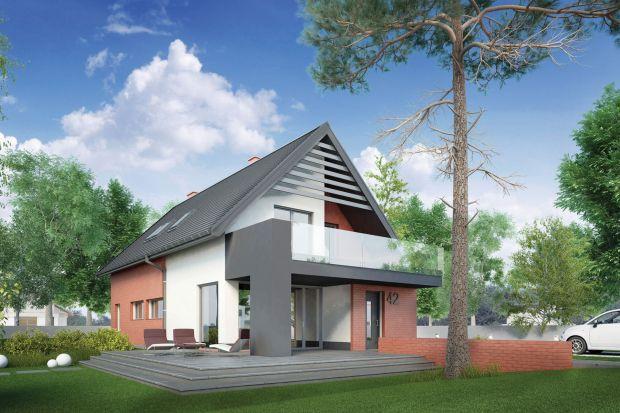 Indygo to dom energooszczędny i funkcjonalny, dla 4–5-osobowej rodziny. Dobrana kolorystyka elewacji i zastosowanie cegły klinkierowej sprawiają, że dom nabiera eleganckiego wyglądu.
