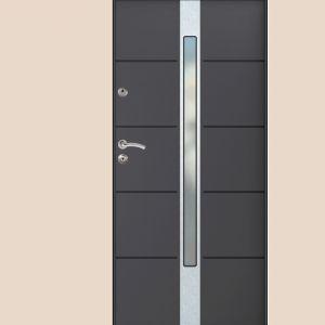Drzwi antywłamaniowe polecane do domów szczególnie zagrożonych włamaniem. Wyposażone standardowo w ciepłą ościeżnicę Gerda Perfortherm. Fot. Gerda