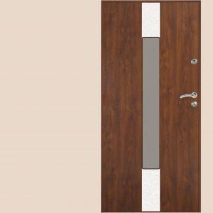 Model GSX to przeszklone drzwi antywłamaniowe z zamkiem centralnym do zastosowania jako główne drzwi wejściowe w domu o wysokim stopniu zagrożenia włamaniem, wyposażone standardowo w ciepłą ościeżnicę Gerda Perfotherm. Fot. Gerda