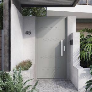 Drzwi z kolekcji Premium, linia Essence marki Vetrex. Współczynnik przenikania ciepła Ud=0,63 W/m2K. – w drzwiach pełnych w okleinach drewnopodobnych. Fot. Vetrex