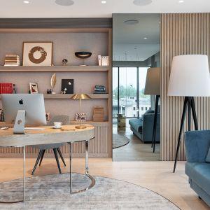 Jasne mieszkanie z pięknym tarasem: nowoczesne wnętrze w nowojorskim stylu. Projekt: Katarzyna Kraszewska. Fot. Tom Kurek